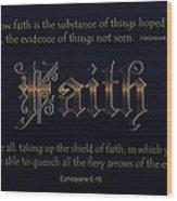 Steadfast Faith Wood Print