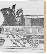 Steam Coach Wood Print
