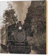 Steam Engine Wood Print