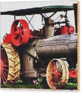 Steam Engine Tractor  Wood Print
