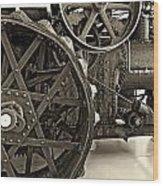 Steam Power Monochrome Wood Print