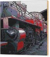 Steam Punk Railroad Wood Print