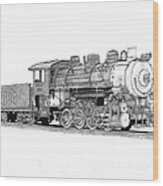 Steam Switcher Number 1894 Wood Print