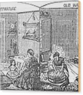Steam Washer, 1872 Wood Print