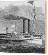 Steamboat, 1850 Wood Print