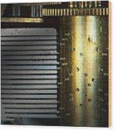 Steampunk - Gears - Music Machine Wood Print