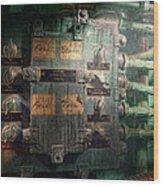 Steampunk - Naval - Electric - Lighting Control Panel Wood Print