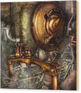 Steampunk - Naval - Shut The Valve  Wood Print