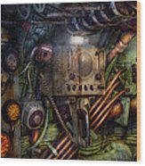 Steampunk - Naval - The Comm Station Wood Print