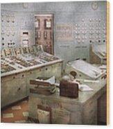 Steampunk - Retro - The Power Station Wood Print
