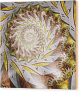 Steampunk - Spiral - Time Iris Wood Print