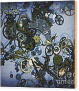 Steampunk Gears - Time Destroyed Wood Print
