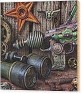 Steampunk Still Life Wood Print
