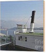 Steamship Wood Print