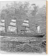 Steamship: Republic Wood Print