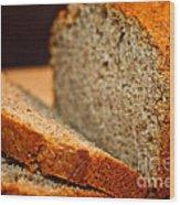 Steamy Fresh Banana Bread Wood Print by Susan Herber