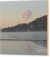 Steamy Morning Wood Print