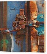 Steel Blues Wood Print