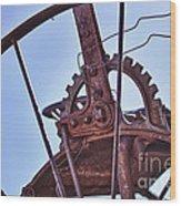 Steel Wheel Wood Print