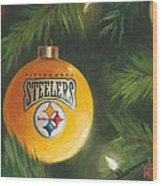 Steelers Ornament Wood Print