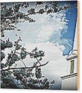 Steeple In The Sky  Wood Print