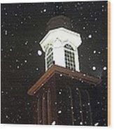 Steeple In The Snow Wood Print