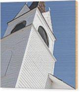 Steeple On St. Joseph's Catholic Mission Church Wood Print