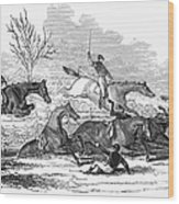 Steeplechase, 1845 Wood Print