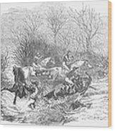 Steeplechase, 1847 Wood Print