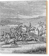 Steeplechase, 1863 Wood Print