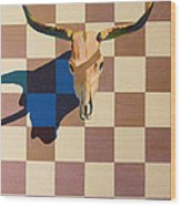 Steer Head Wood Print