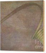 Stem Curls Wood Print