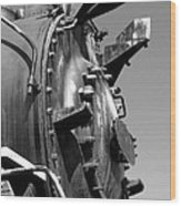 Steme Engine Front Black And White Wood Print