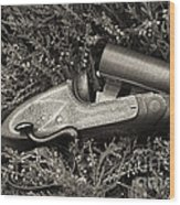 Stephen Grant And Sons Side Lever Twelve Bore - D003359-bw Wood Print