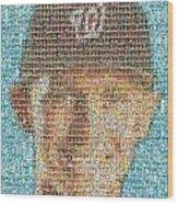 Stephen Strasburg Card Mosaic Wood Print