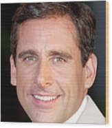 Steve Carell At Arrivals For The 40 Wood Print