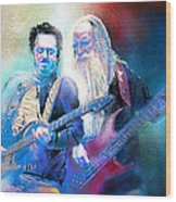 Steve Lukather And Leland Sklar From Toto 02 Wood Print