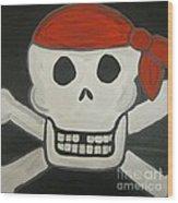 Steve The Pirate After Dark Wood Print
