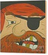 Steve The Pirate Wood Print