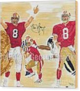 Steve Young - Hall Of Fame Wood Print