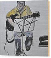 Steve's Guitar Wood Print