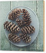 Stil Life With  Seven Pine Cones Wood Print
