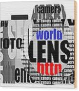 Still Camera From Words Wood Print
