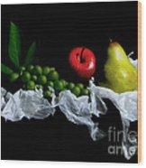 Still Fruits Wood Print