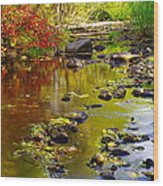 Still Golden Waters Wood Print