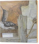 Still Life Of Beach Thoughts Wood Print by Delores Swanson