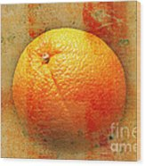 Still Life Orange Abstract Wood Print