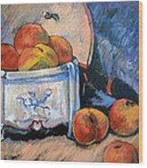 Still Life Peaches Wood Print