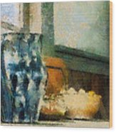 Still Life With Blue Jug Wood Print