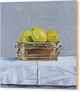 Still Life With Copper And Lemons Wood Print
